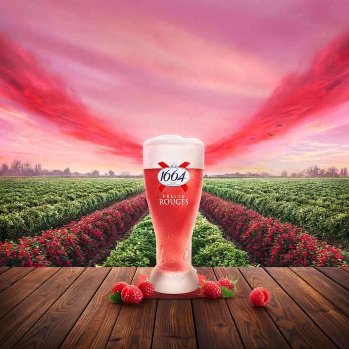 1664 bière, paysage champêtre.