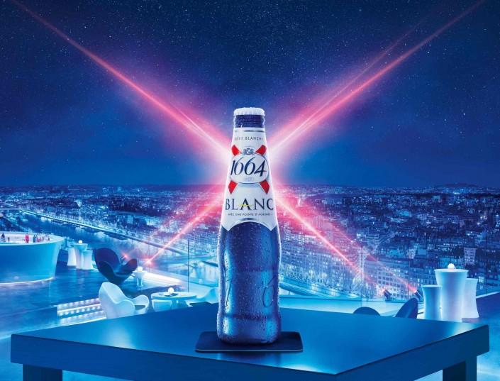 1664, bière, terrasse, nuit, bar, paris, vue sur la ville, panorama