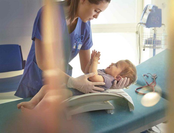 Hopital, bébé, consultation, stetoscope